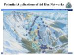potential applications of ad hoc networks