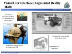 vision user interface augmented reality hoff