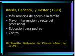 kaiser hancock y hester 1998