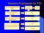 decision framework for fdi