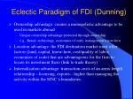 eclectic paradigm of fdi dunning