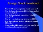 foreign direct investment1