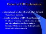 pattern of fdi explanations