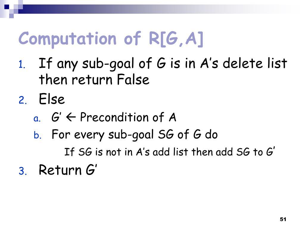 Computation of R[G,A]