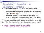 consistent heuristic for backward planning