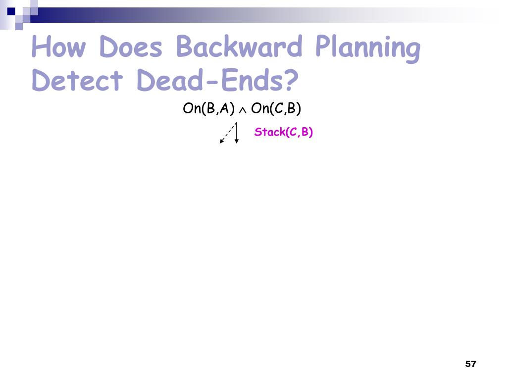 How Does Backward Planning Detect Dead-Ends?