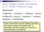 more complex state constraints in 1 st order predicate logic