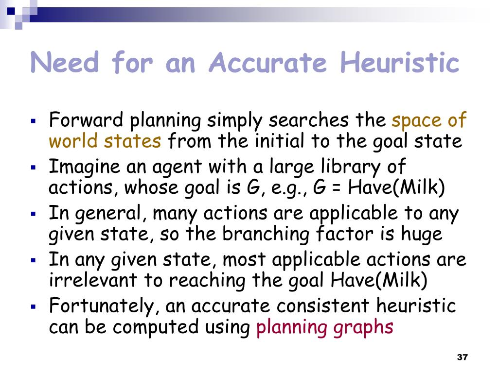 Need for an Accurate Heuristic