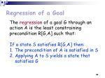 regression of a goal