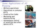 some applications of ai planning