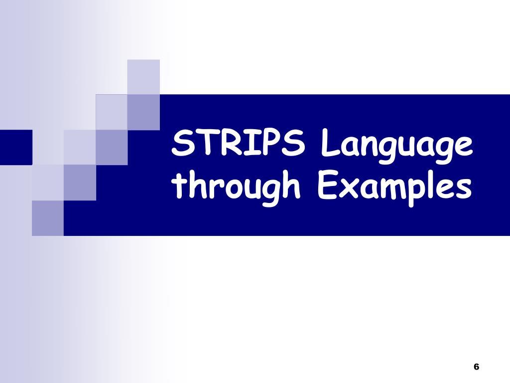 STRIPS Language