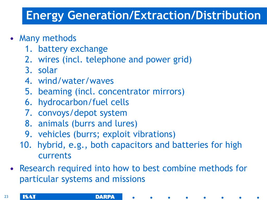 Energy Generation/Extraction/Distribution