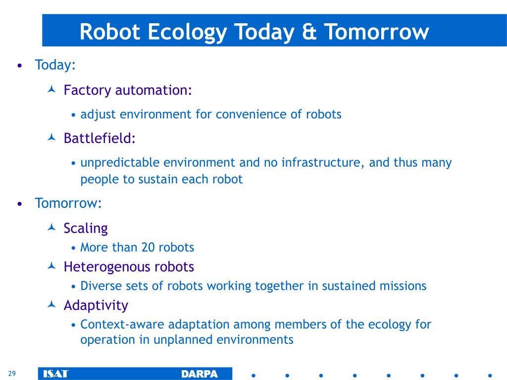 Robot Ecology Today & Tomorrow