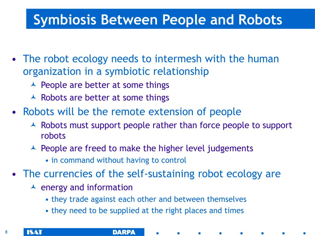 Symbiosis Between People and Robots