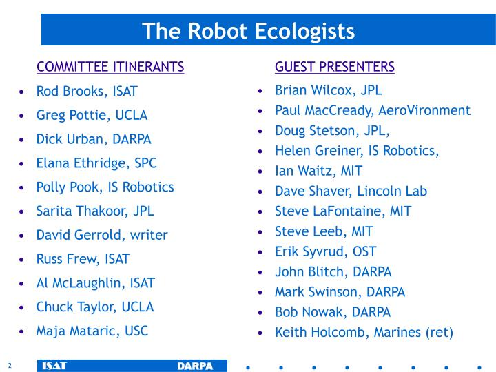 The robot ecologists