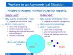 warfare in an asymmetrical situation