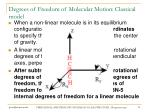 degrees of freedom of molecular motion classical model14