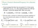 theory classical vibrational frequency for a diatomic molecule36
