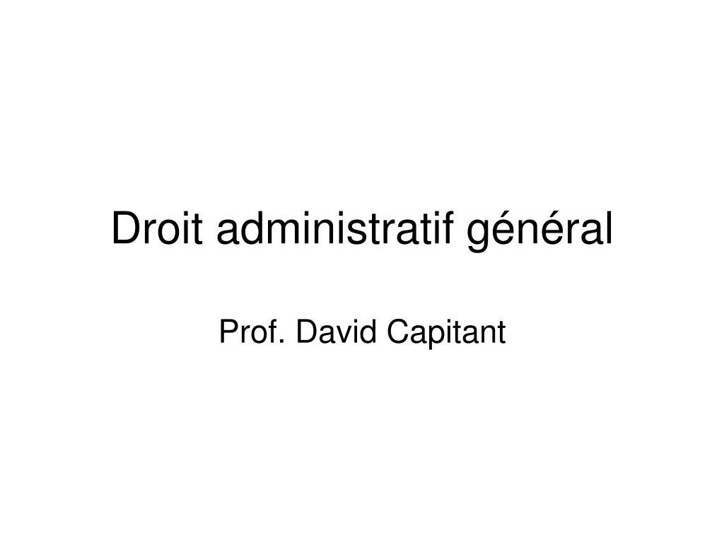 droit administratif g n ral l.