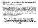 2 obstacles la compr hension du langage crit7