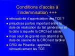 conditions d acc s l indemnisation27