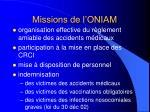 missions de l oniam