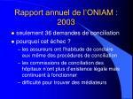 rapport annuel de l oniam 200378