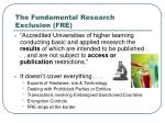 the fundamental research exclusion fre
