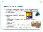 what s an export