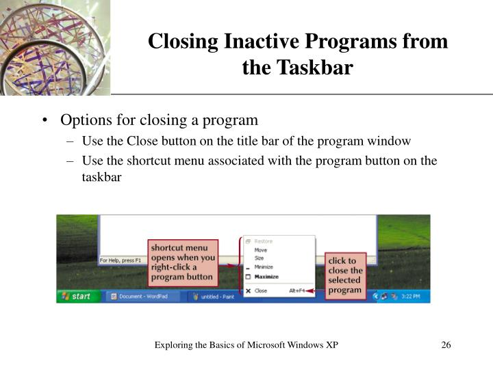 Closing Inactive Programs from