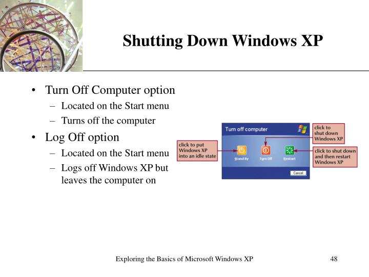 Shutting Down Windows XP