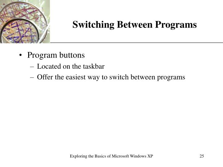 Switching Between Programs