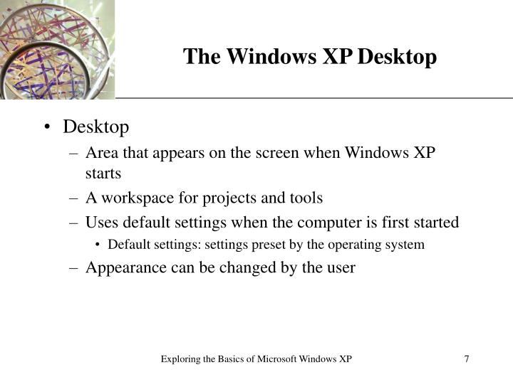 The Windows XP Desktop