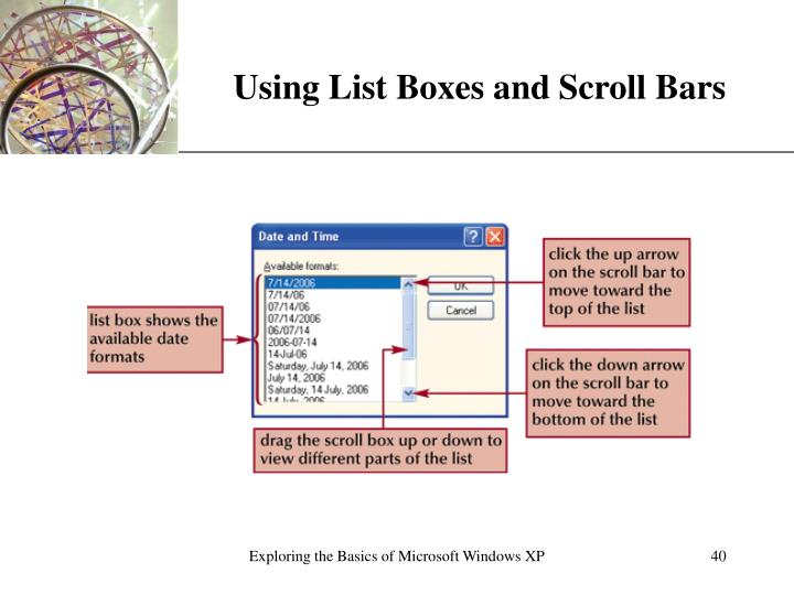 Using List Boxes and Scroll Bars
