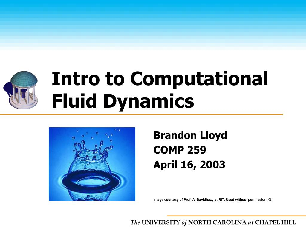 intro to computational fluid dynamics l.