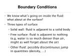 boundary conditions31