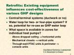 retrofits existing equipment influences cost effectiveness of various ghp designs
