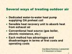 several ways of treating outdoor air