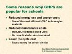 some reasons why ghps are popular for schools