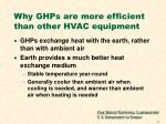 why ghps are more efficient than other hvac equipment