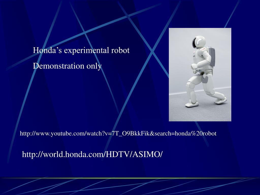 Honda's experimental robot