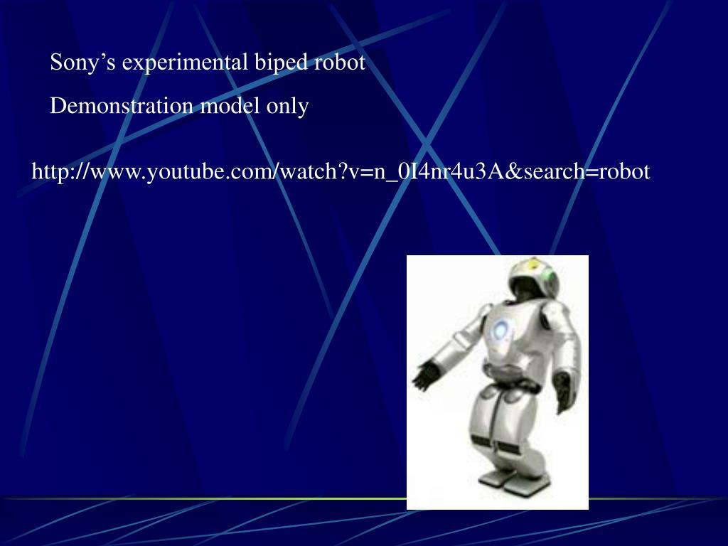 Sony's experimental biped robot