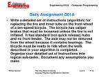 daily assignment g01a