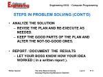 steps in problem solving cont d11