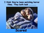 i think they ve been watching horror films they both look
