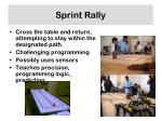 sprint rally
