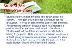 student tool think pair share