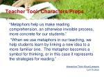 teacher tool characters props