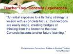 teacher tool concrete experiences