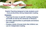 teacher tool mini lesson